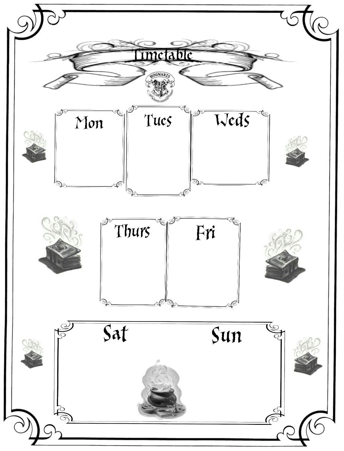 Harry Potter Planner Printables Free