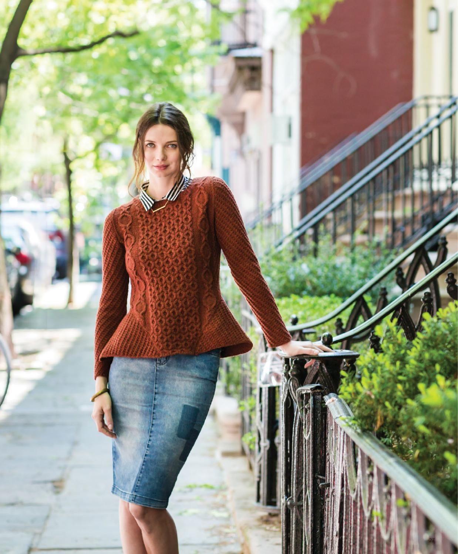 Lookbook for Brooklyn Tweed's new CAPSULE series, featuring knitwear design by Olga Buraya-Kefelian