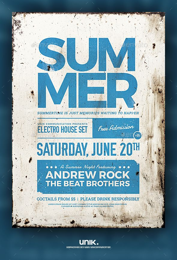 summer flyer poster template psd download here http