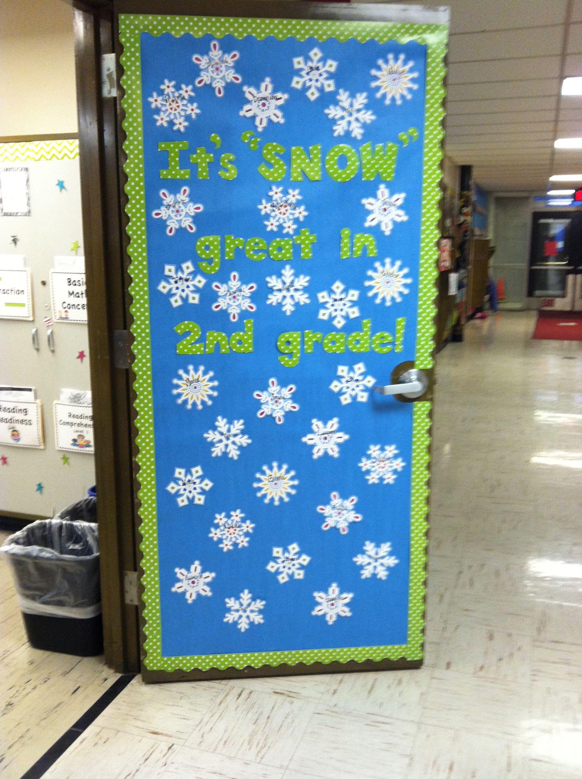 """My new classroom door! """"It's """"SNOW"""" great in 2nd grade ..."""