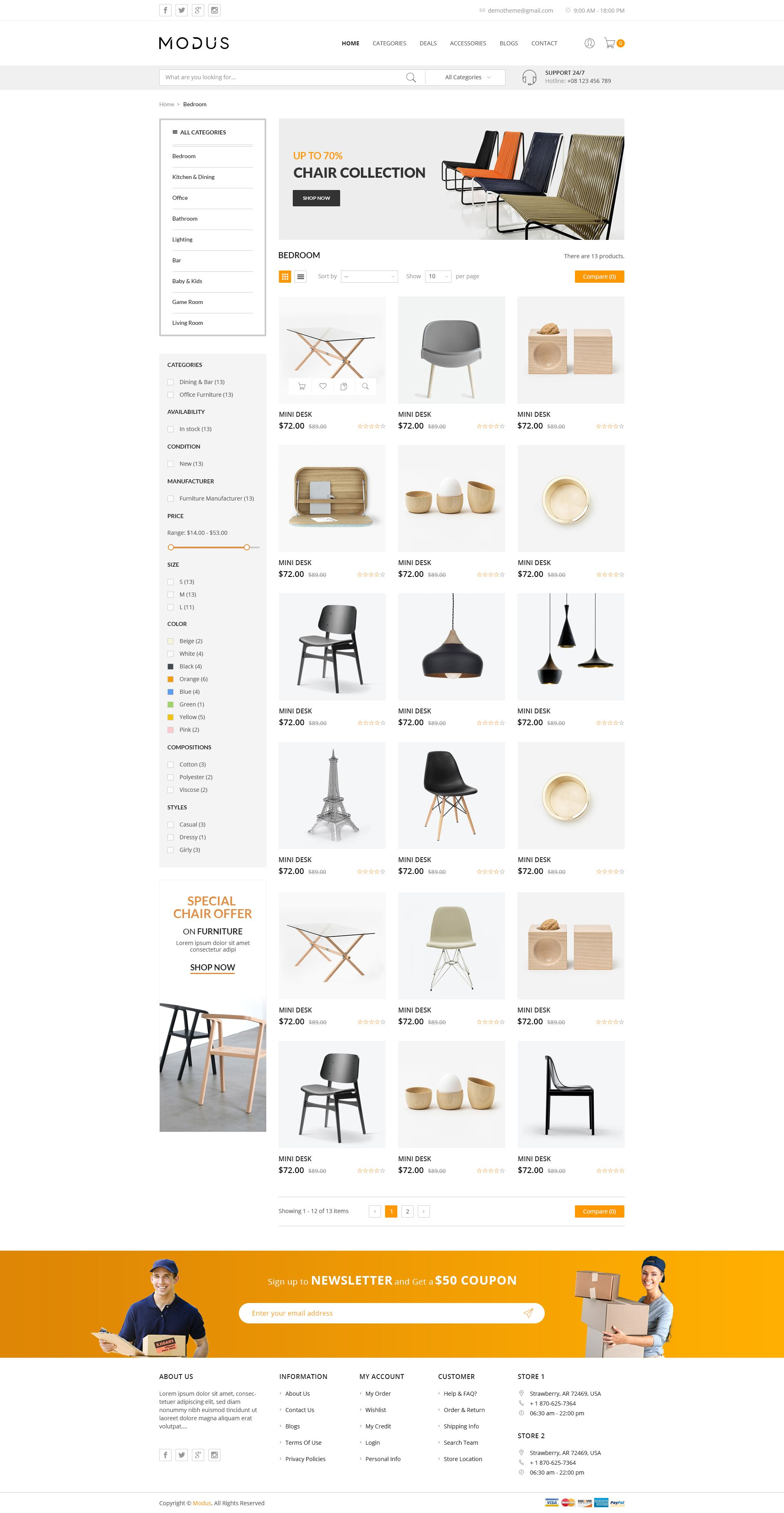 modus - ecommerce psd template #ecommerce, #modus, #template, #psd