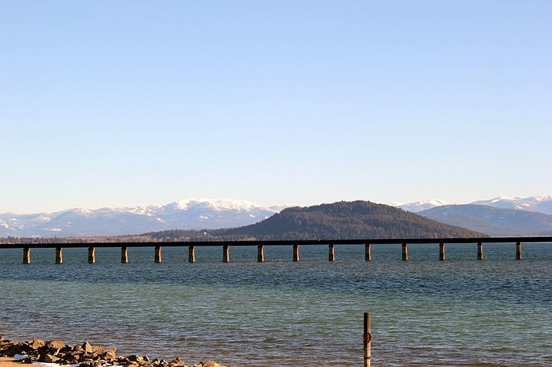 Long Bridge Crossing Lake Pend Oreille Into Sandpoint Idaho Lake Pend Oreille Sandpoint Sandpoint Idaho