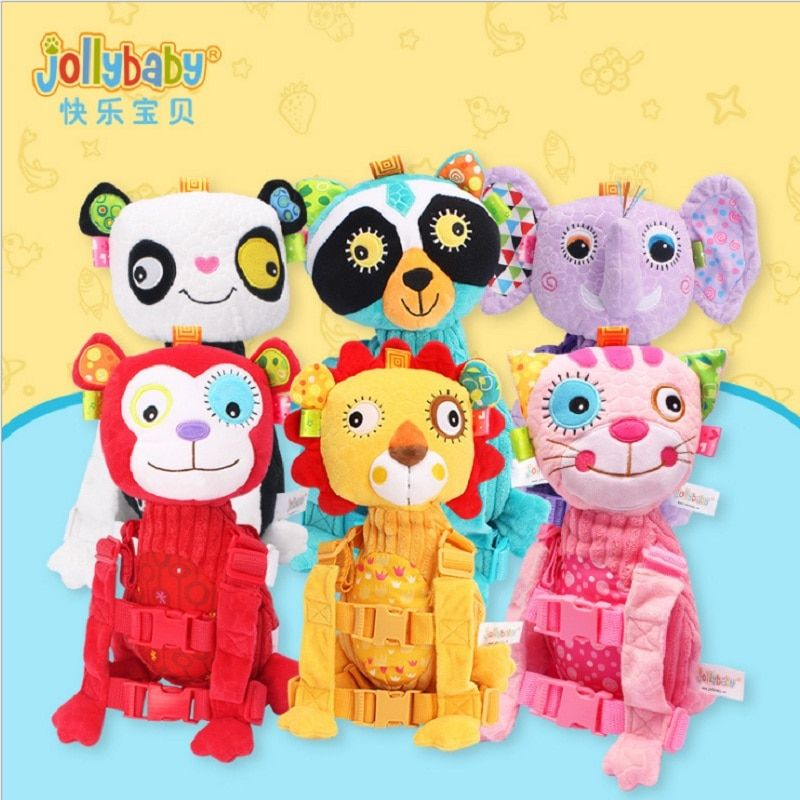 Sozzy Baby Animal Safety Backpack Anti Lost Bag Traction Rope