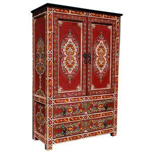 Ebenfalls Neu Im Sortiment Ist Dieser Farbenfrohe Marokko Schrank Mit  Sinnlichen Motiven Im Maurischen Stil.
