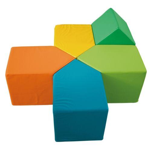 kinder schaumstoff bausteine 5 st ck kindergeburtstag schaumstoff bausteine bausteine und. Black Bedroom Furniture Sets. Home Design Ideas