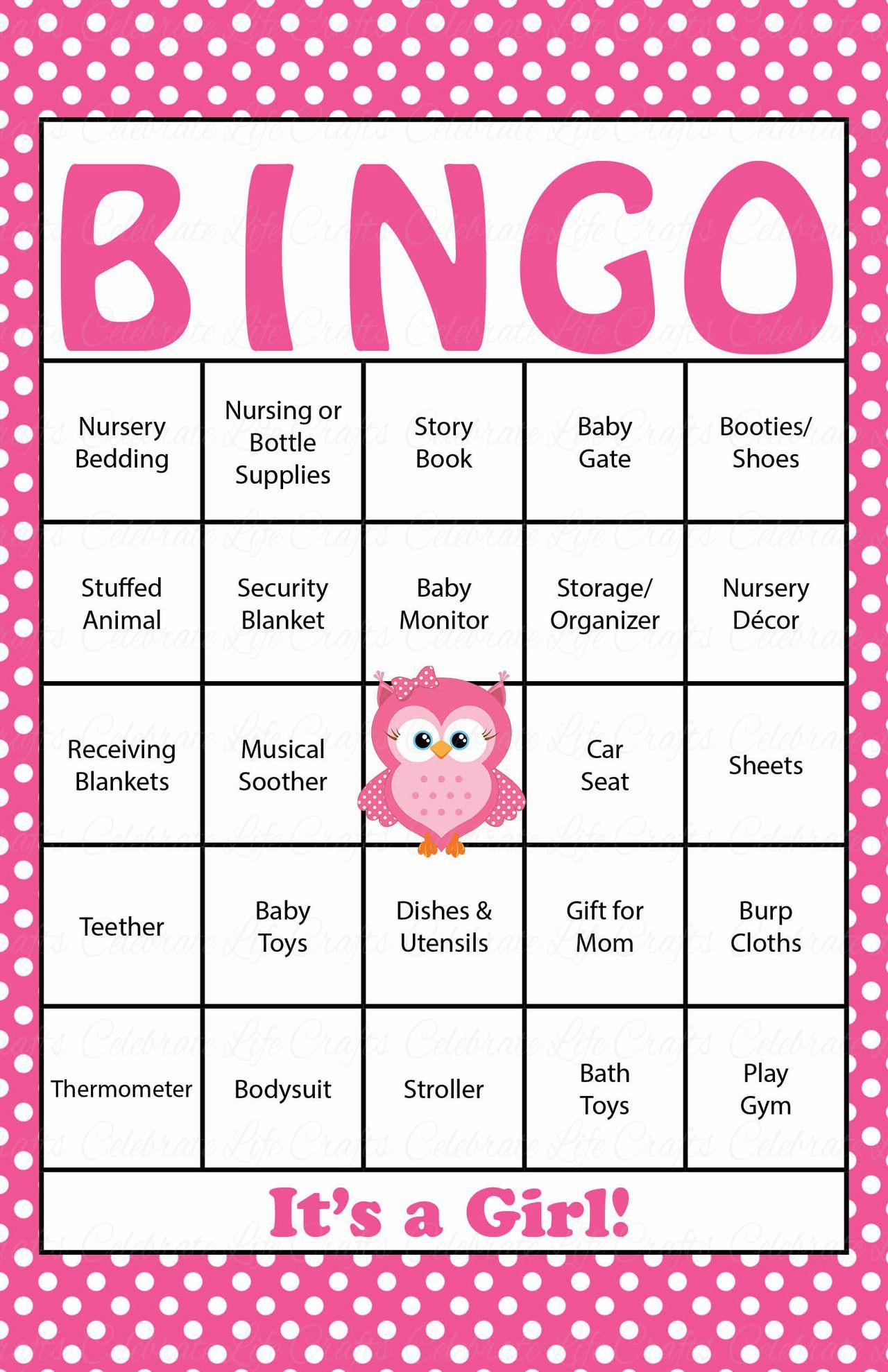 30 Owl Baby Shower Bingo Cards