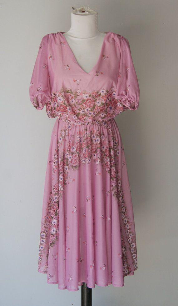 Vintage 1970s Boho Chic Purple Day Dress by hipandvintage on Etsy