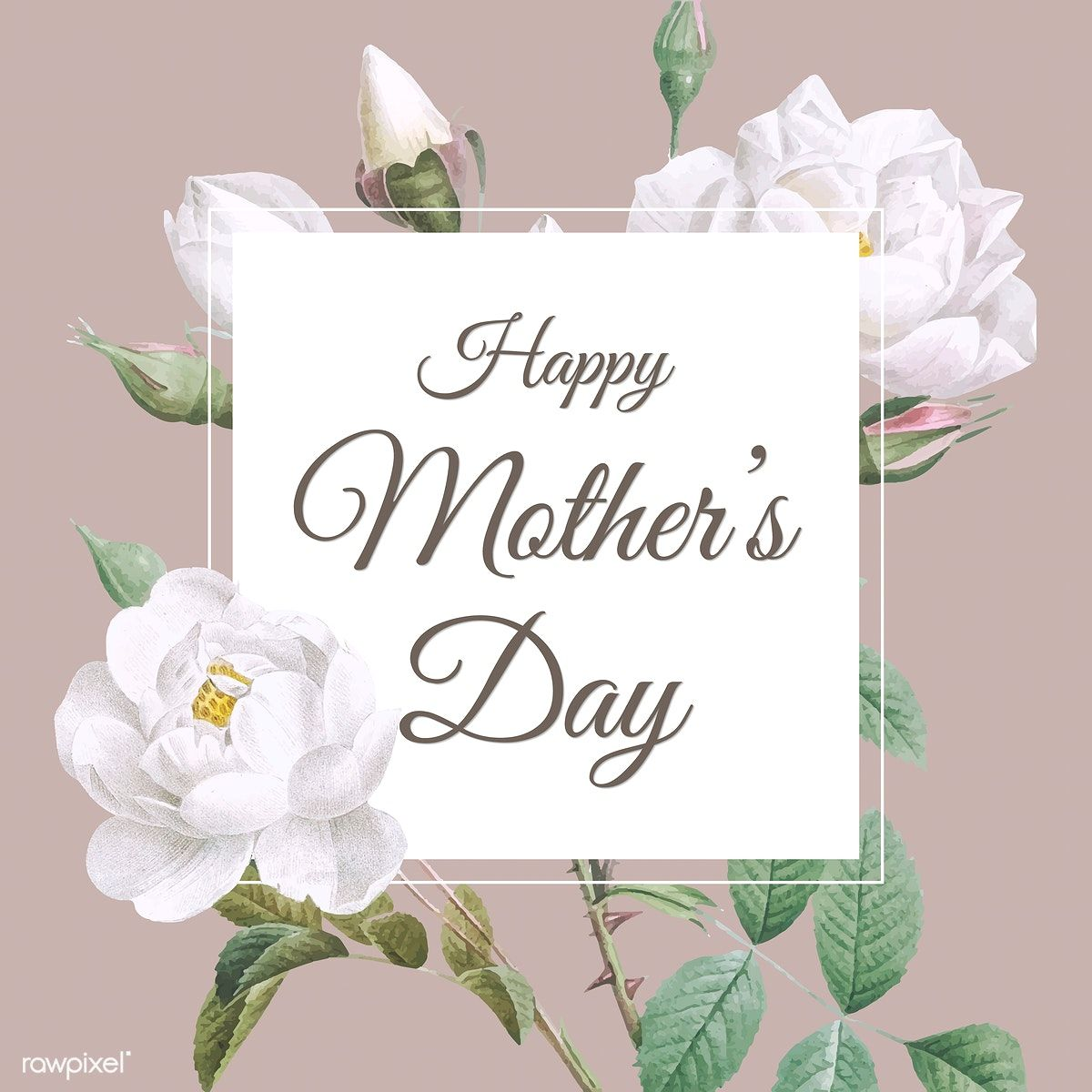 Download Premium Vector Of Floral Elegant Mother S Day Card Vector