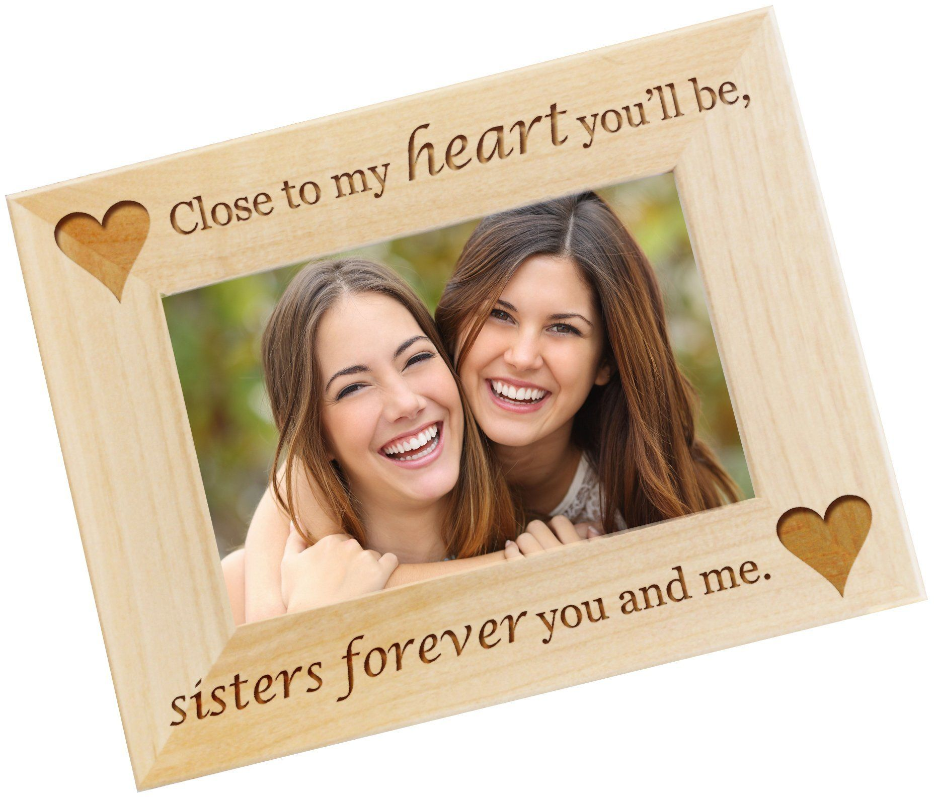 Personalized Photo Frame - Sister Gift from Sister, Custom Engraved ...