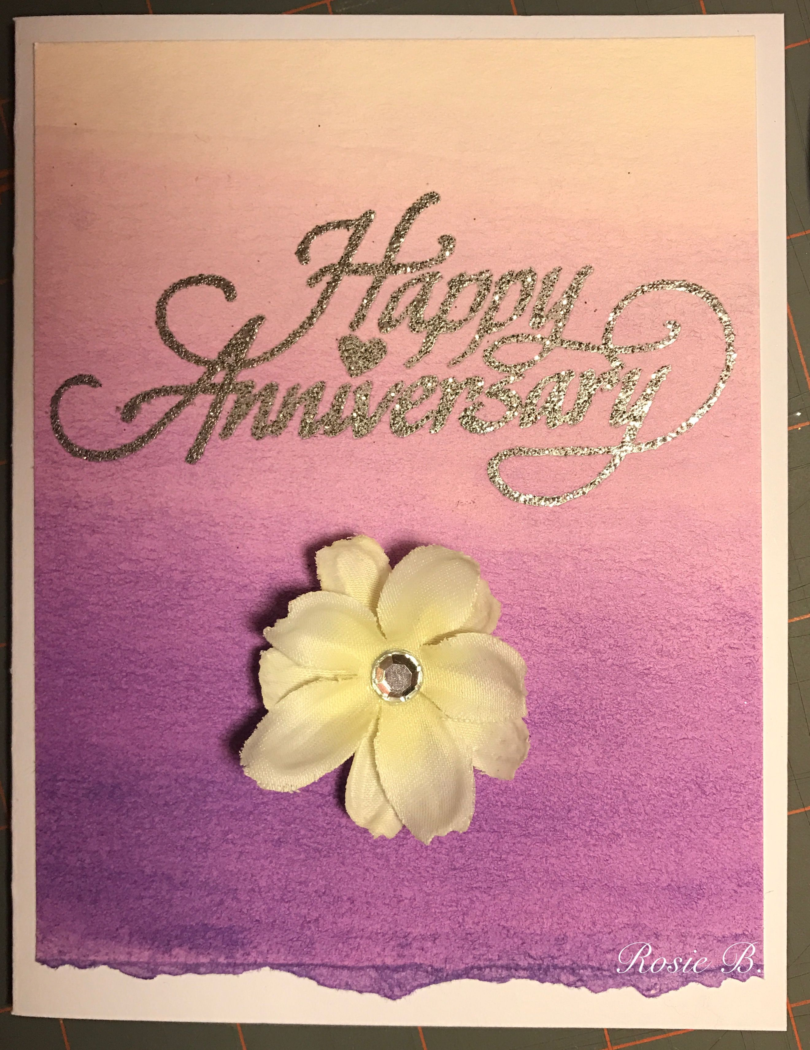 Purple ombr watercolor anniversary card rb my cards rb purple ombr watercolor anniversary card rb kristyandbryce Images