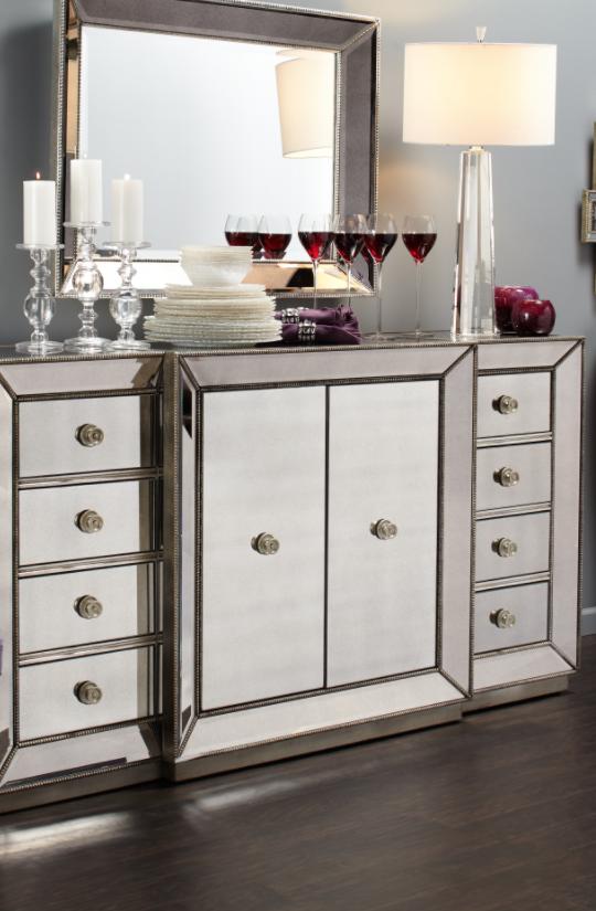 omni mirrored buffet home decorating mirror buffet home decor rh pinterest com