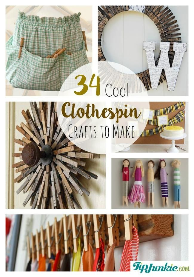 34 Cool Clothespin Crafts To Make Crafts To Make
