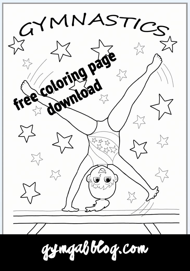 Gymnastics Coloring Page Printable Download | Gymnastics Cartwheel ...