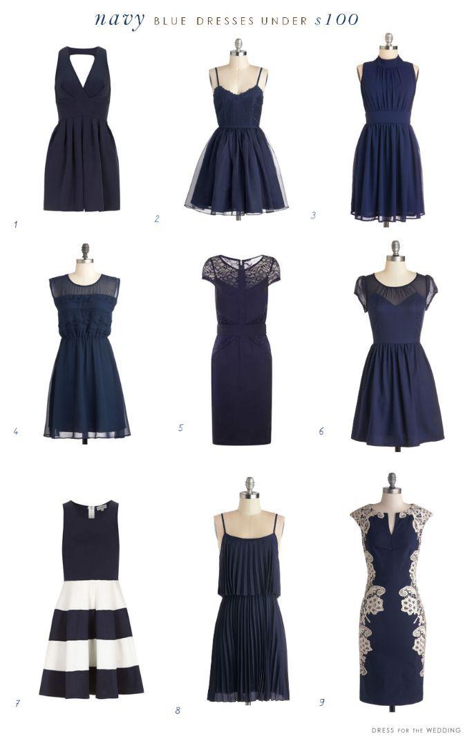 Navy Blue Dresses Under 100