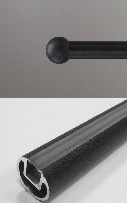 Ball End Cap 1 Diameter Le Fer Long Span Slick Curtain Rod