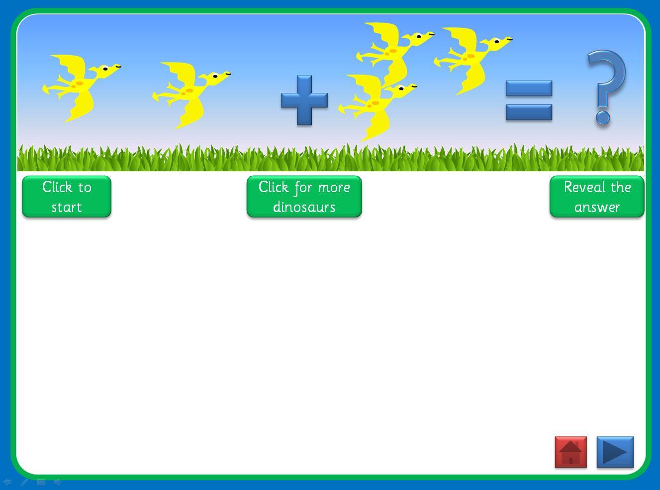 Dinosaur Subtraction Worksheet
