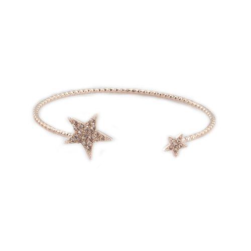 Czech Crystal Stars 14K Rose Gold Bracelet Tiffany Clothing and