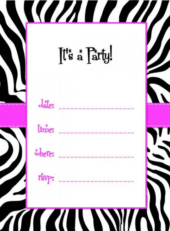 Zebra Baby Shower Invitations Templates Free