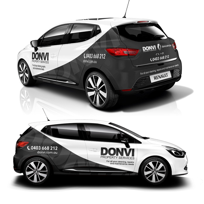 Help DONVI Property Services create an eye catching car wrap design     Help DONVI Property Services create an eye catching car wrap design by  garrywallace