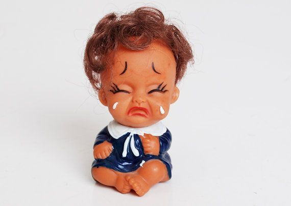 Vintage 60s 70s Vinyl Crying Baby Doll By Twinheartsvintage Baby