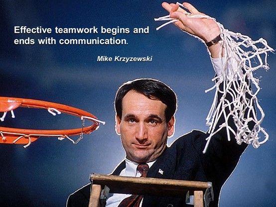 Mike Krzyzewski Leadership Quotes Duke Basketball