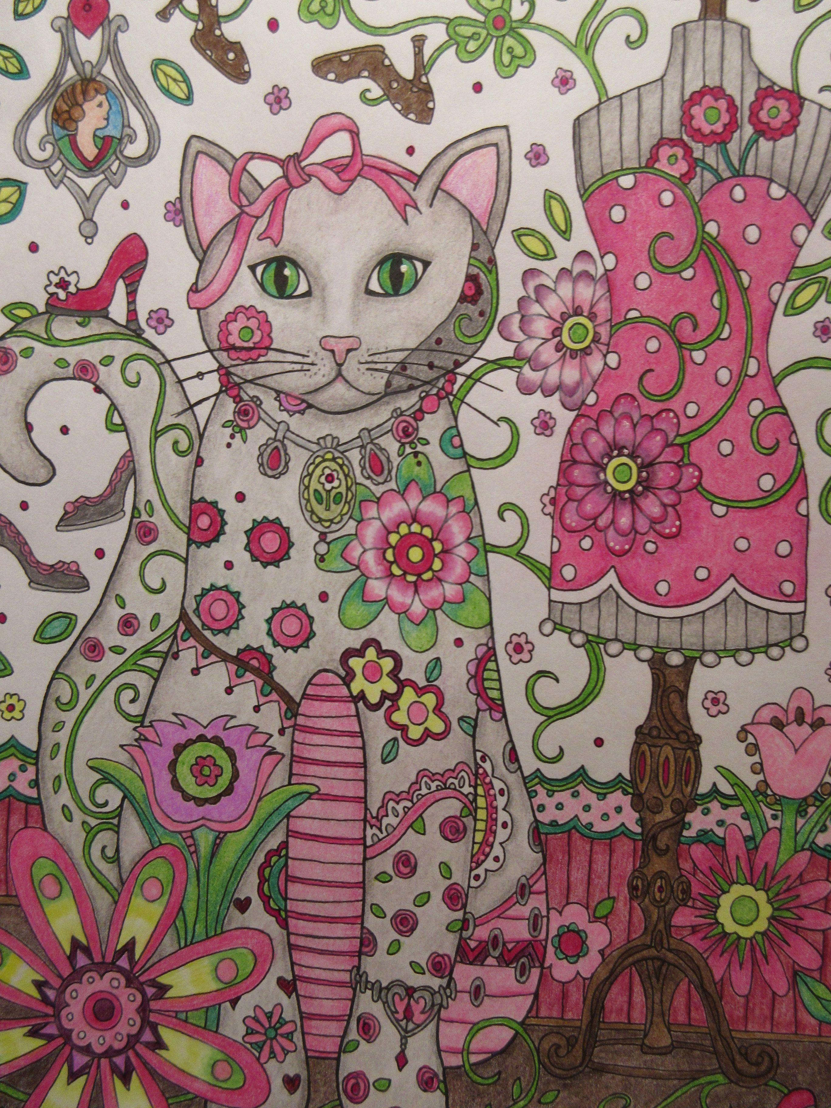 Creative cats by marjorie sarnat colored in prismacolors desenhos