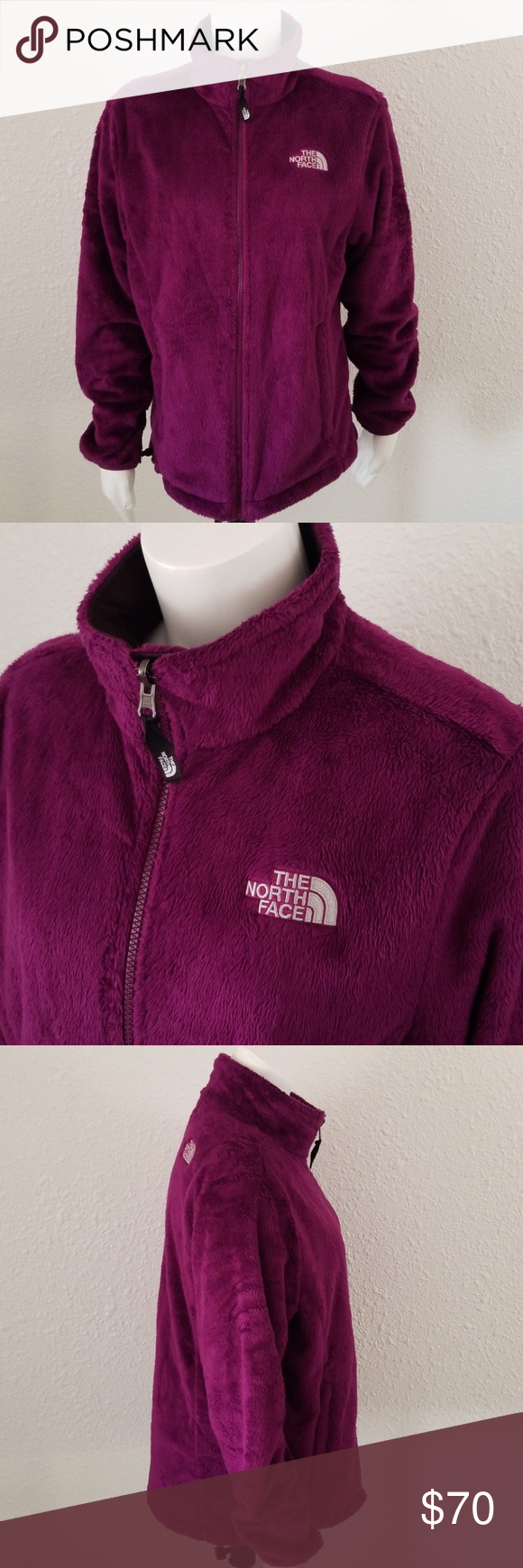 The North Face Osito 2 Ret Parlor Purple Jacket L Purple Jacket Warm Fleece Jacket North Face Osito [ 1740 x 580 Pixel ]