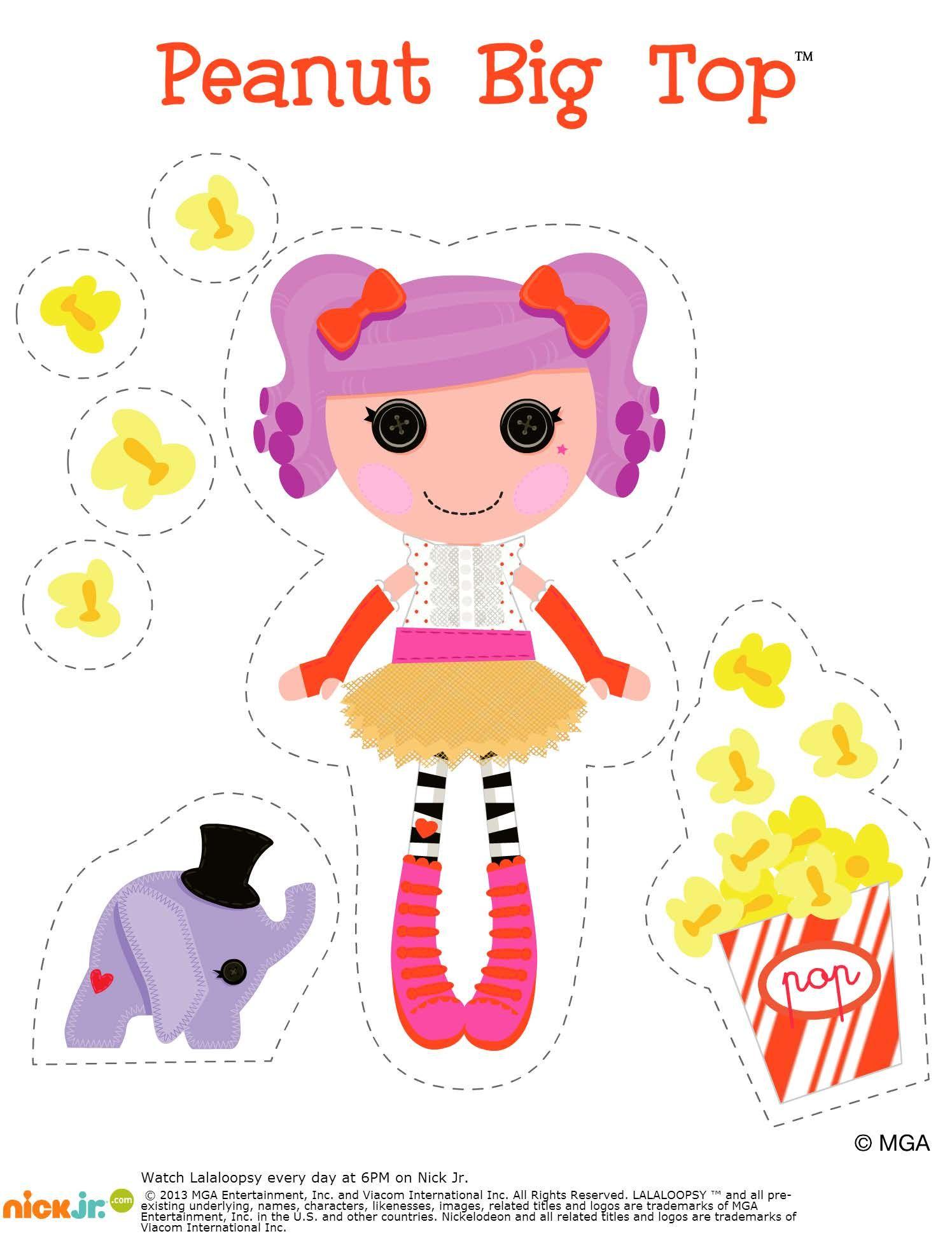 Lalaloopsy Peanut Big Top | Lalaloopsy, Lalaloopsy dolls, Paper dolls