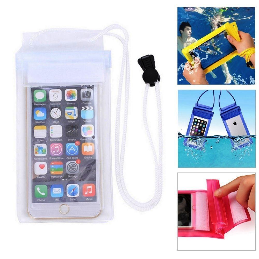 f4b7e13858c Funda Impermeable para Teléfono Móvil Resistente Agua Acuática Blanca d265  | Móviles y telefonía, Accesorios