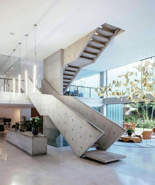 Concrete Staircase Unknown #luxury #houses   Architecture And Home Decor    Bedroom   Bathroom