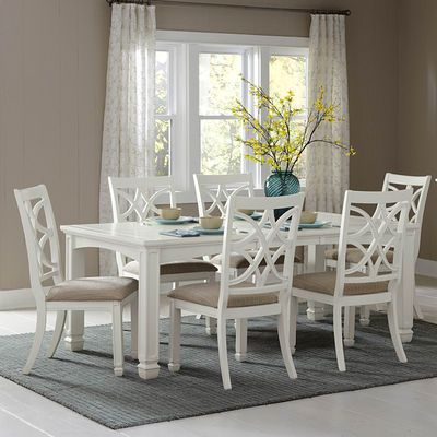 Kentucky Park 7 Piece 60x42 Dining Room Set In White Is A