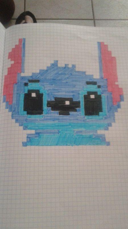 Stitch Dessin Dessin Pixel Dessin Pixel Facile Et