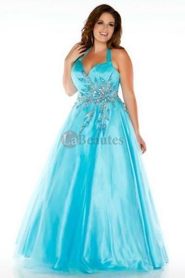 Pretty 2013 Prom Dresses Plus Size Prom Dresses New Arrival Blue A ...