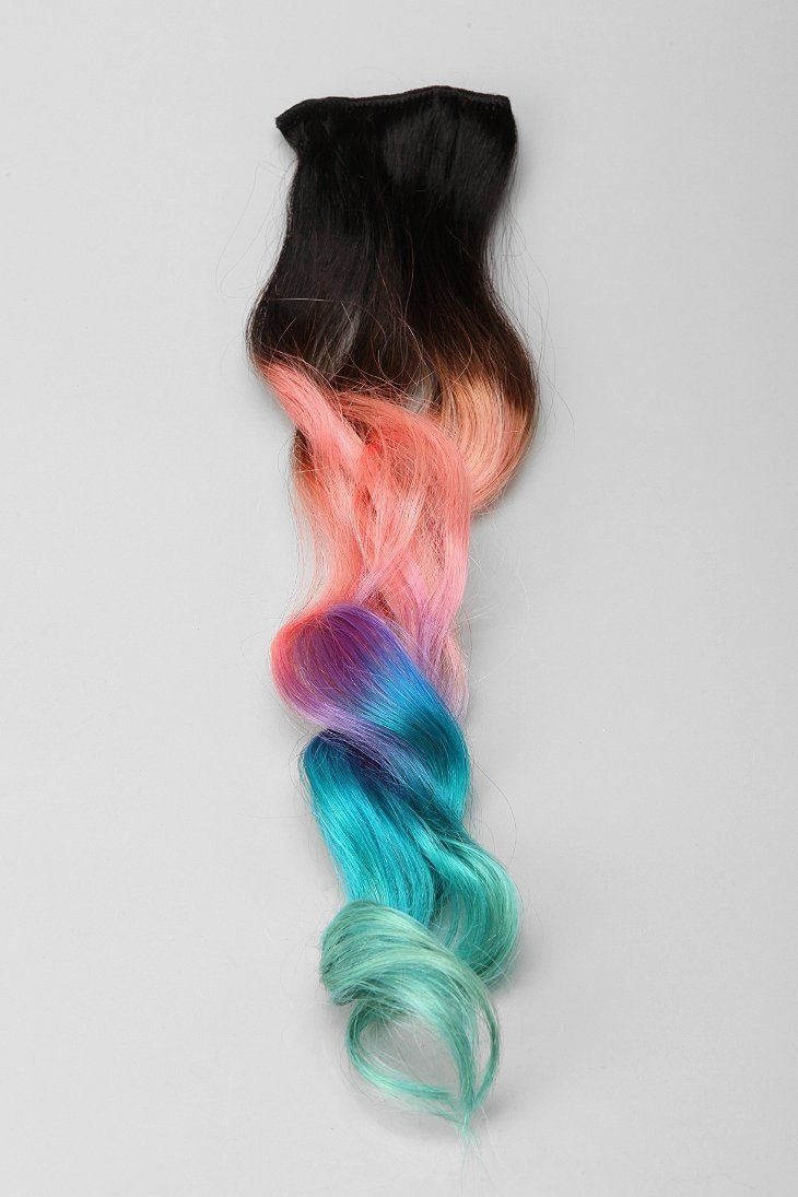 Cloudjewels cotton candy ombre clipin hair extension hair