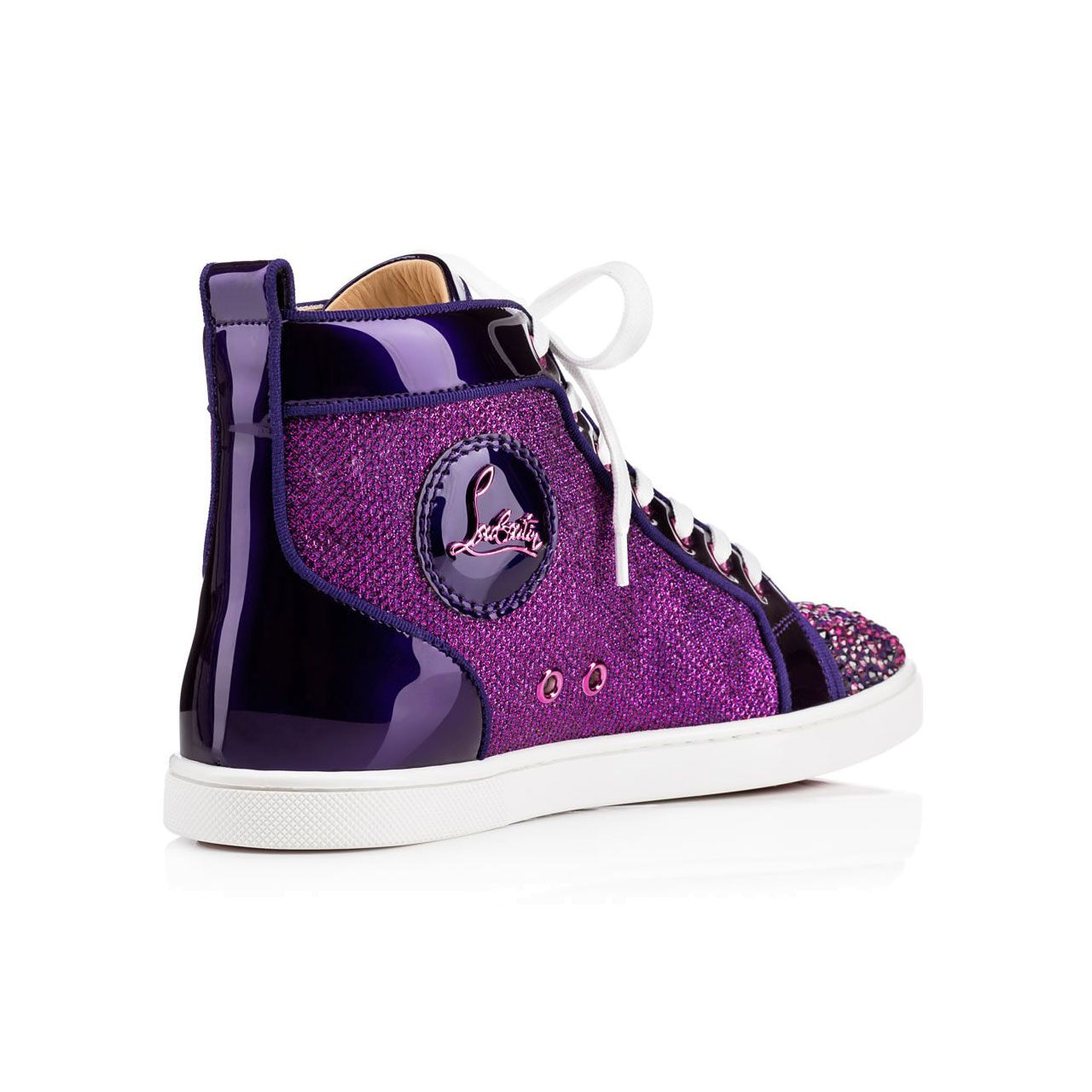 size 40 f7ede de98d reduced louboutin sneakers purple price 5ee13 b29ff