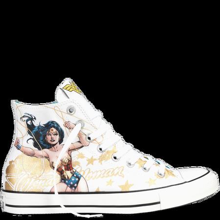 Details about NEW Converse Chuck Taylor All Star Hi Wonder Woman White Sneaker Batman Superman