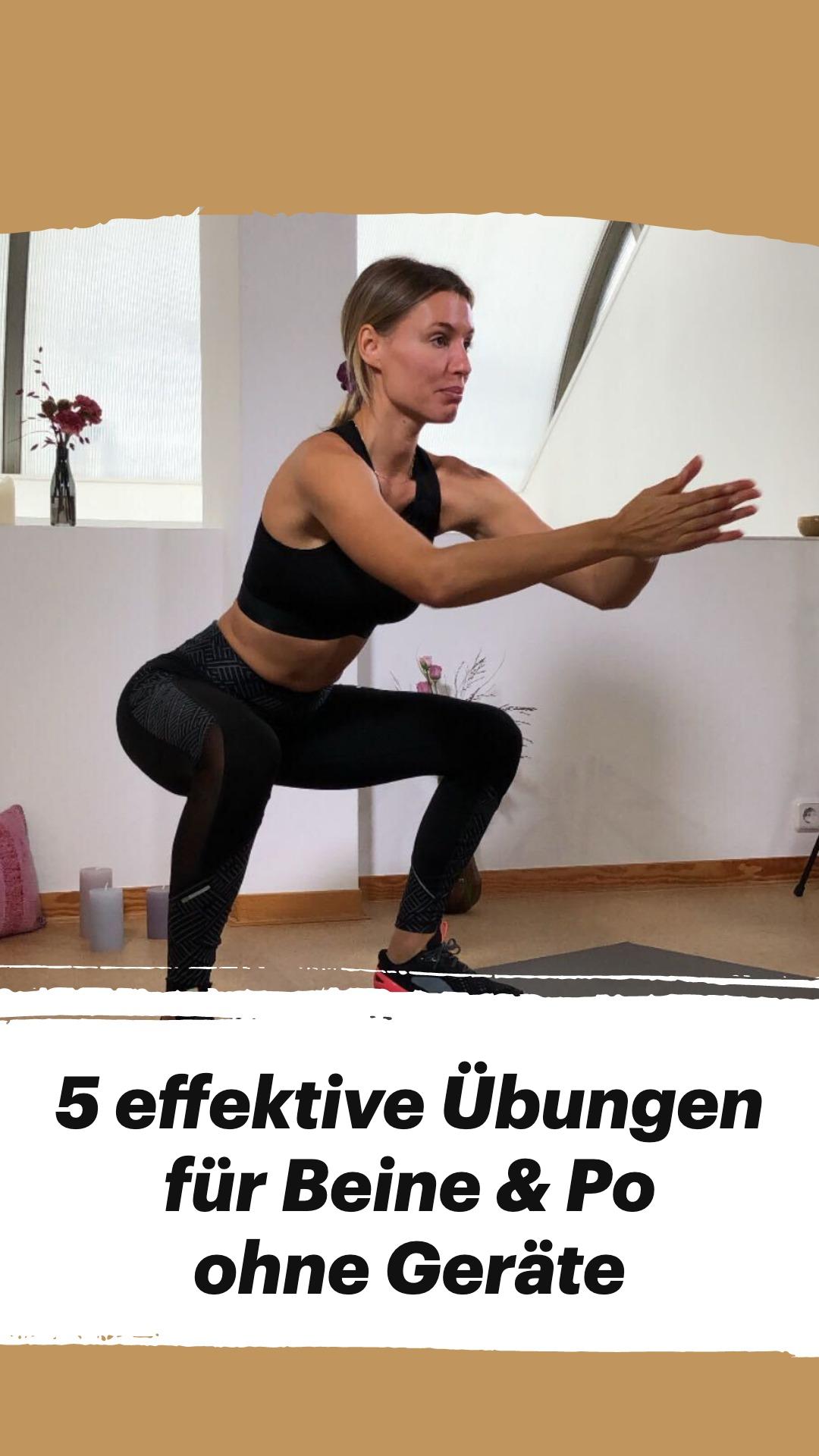 5 effektive Übungen für Beine & Po ohne Geräte
