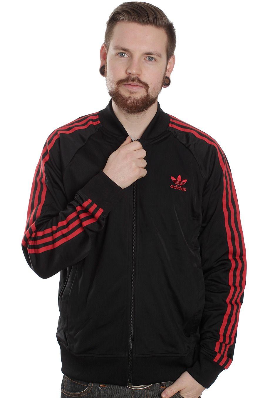 Fraseología Asesino comer  adidas superstar tt track jacket in black light scarlet - 65% remise -  www.muminlerotomotiv.com.tr