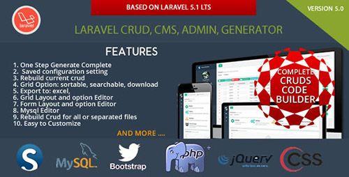 Plugin Laravel CRUD - CMS - Sximo 5 LTS v5 1 6   Download