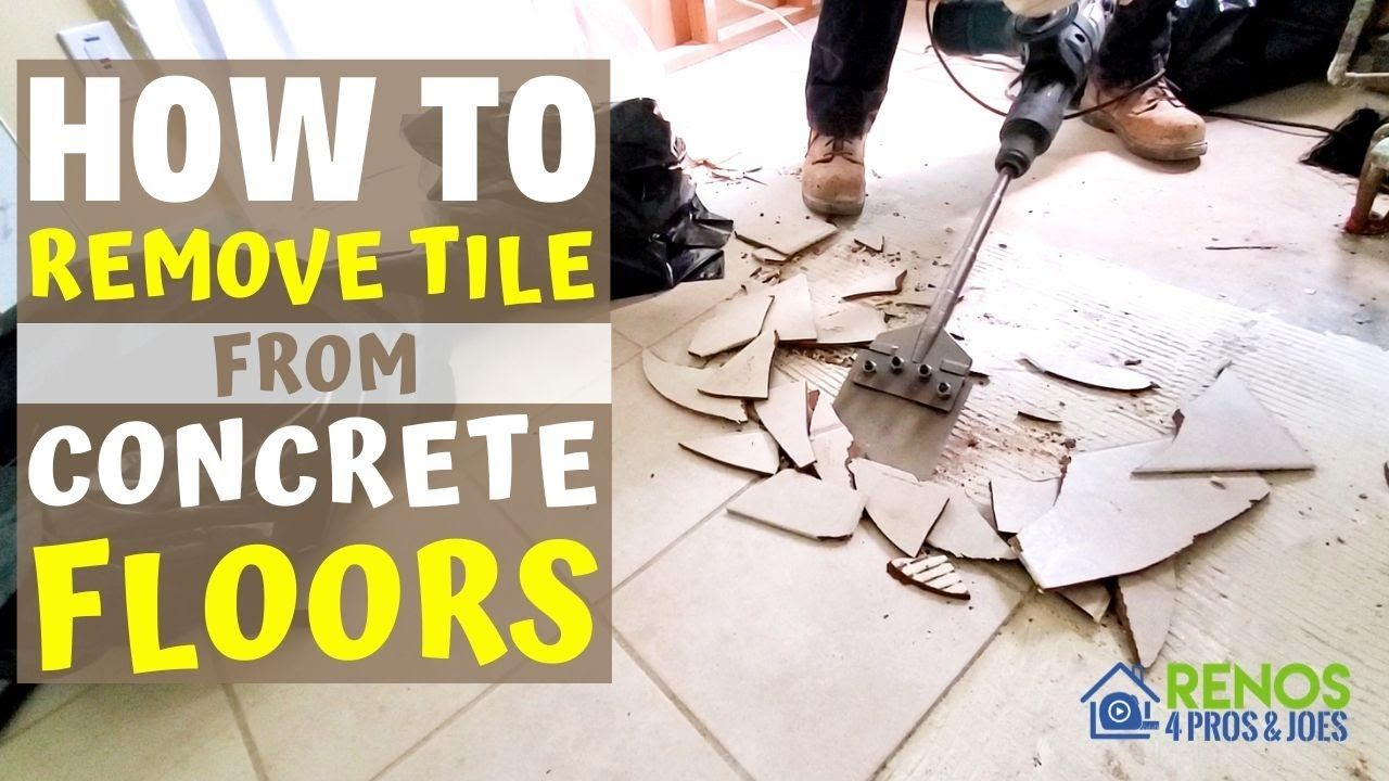 How To Remove Tile From A Concrete Floor With Images Tile Removal