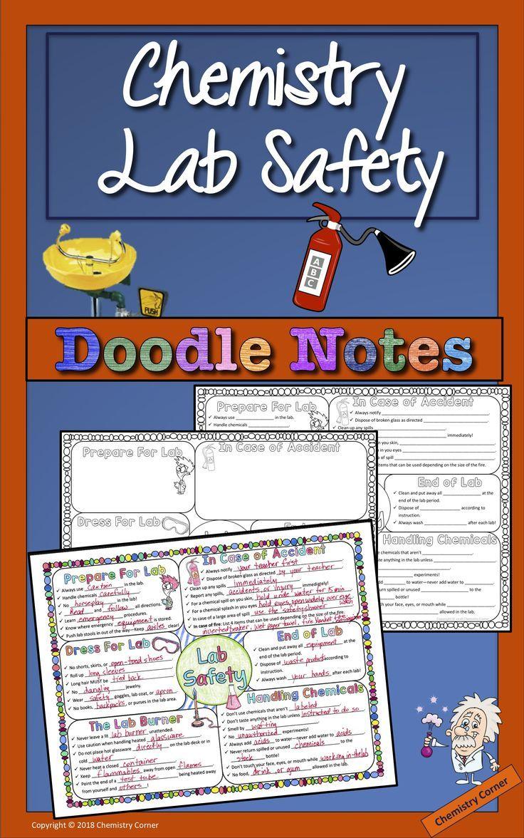 Lab Safety Doodle Notes Doodle notes, Lab safety