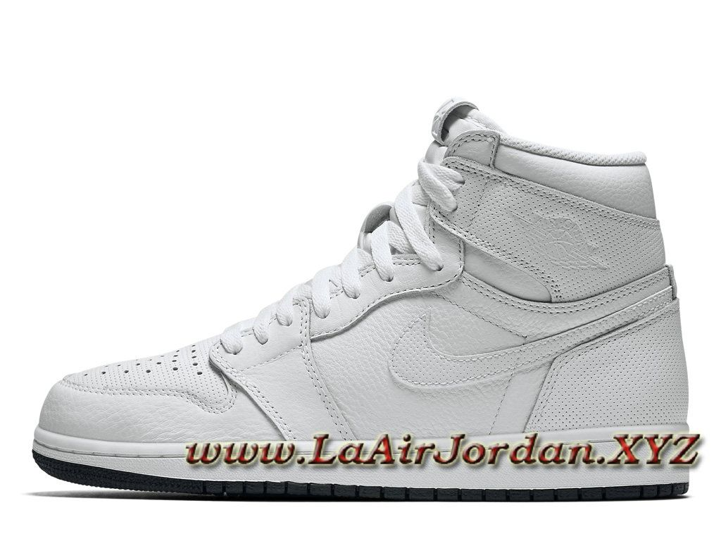 Air Jordan 1 Retro High OG White Black 555088-100 Chaussures Air ...