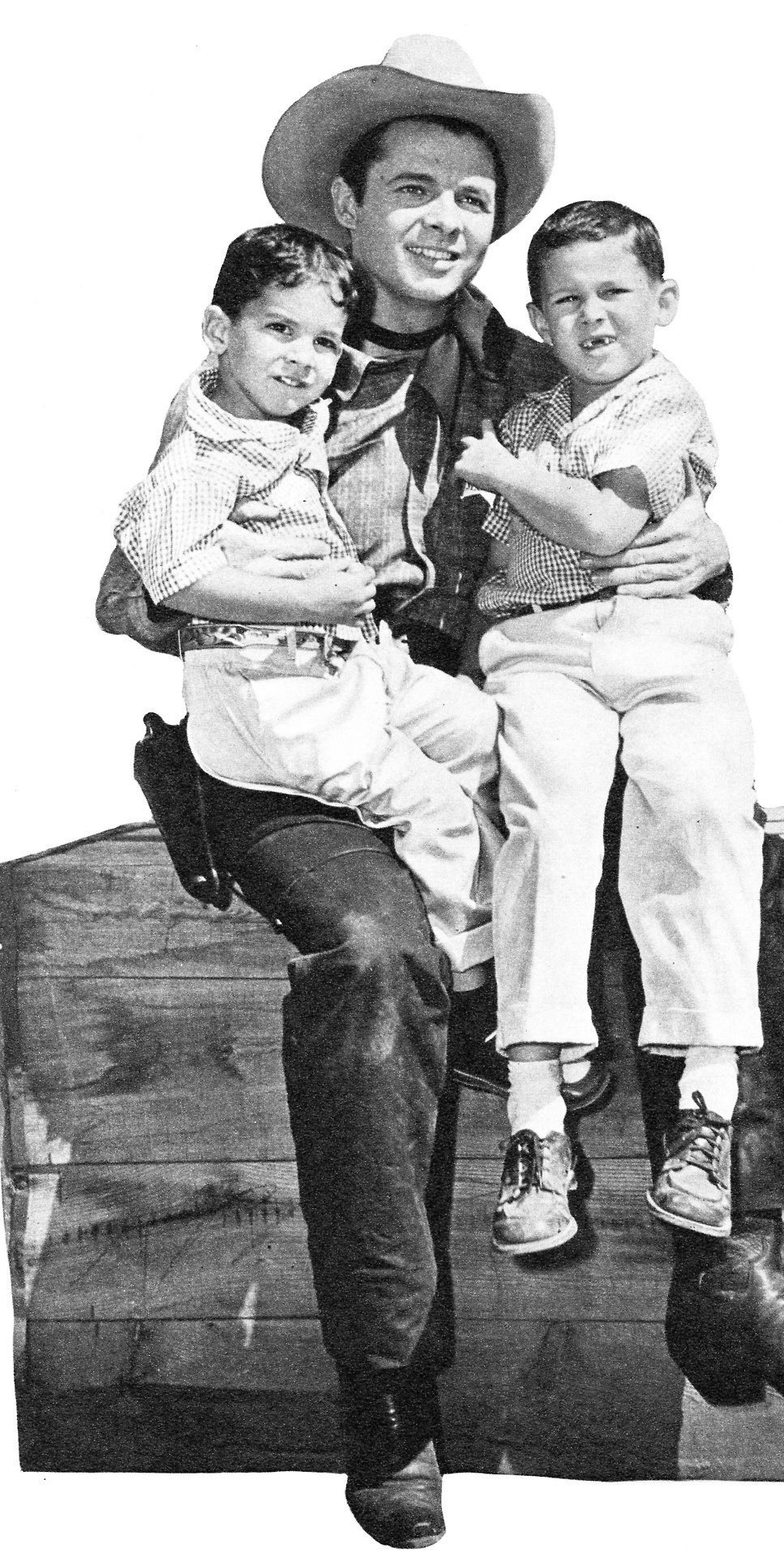 Audie Murphy With His Sons Terry And Skipper C 1958