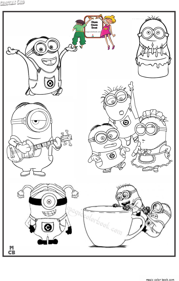 Pin By Magic Color Book On Minions Coloring Pages Free Pinterest
