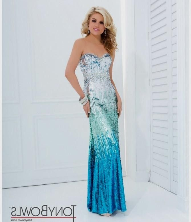 Tony Bowls 2014 Prom Dresses - Silver & Blue Ombre Sequin ... | blue ...
