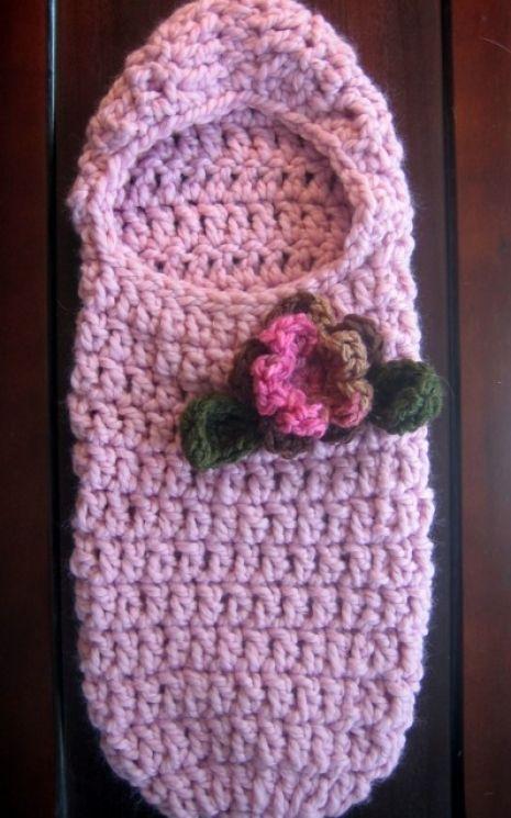 Crochet Pattern Newborn Hooded Cocoon Pattern Pinterest
