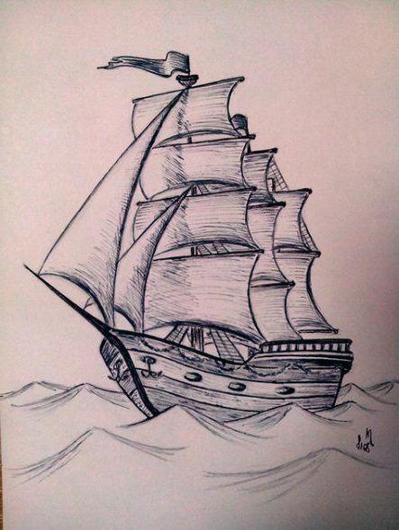 46+ Trendy Boats Tattoo Drawing 46+ Trendy Boats Tattoo Drawing