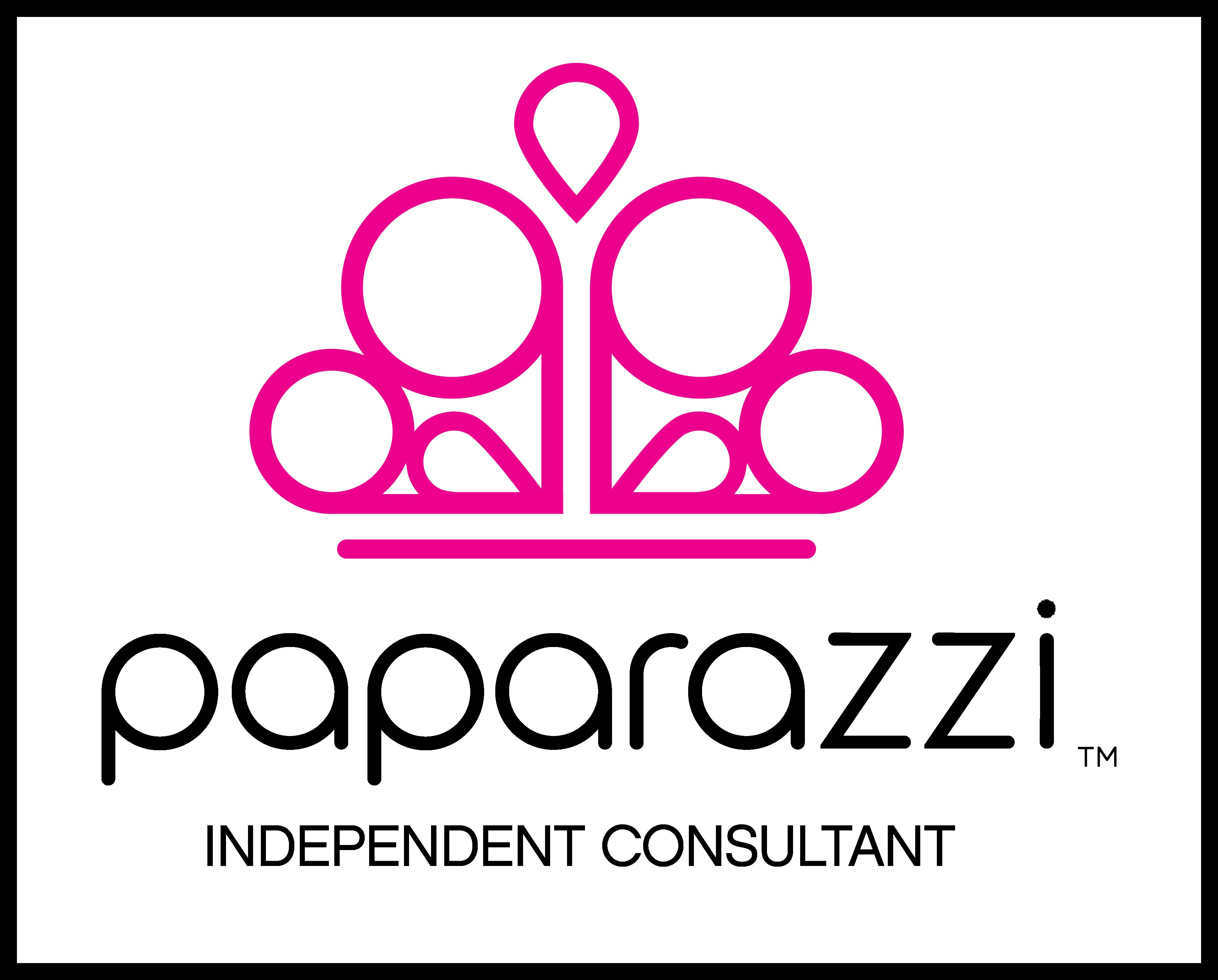 Paparazzi independent consultant logo with black boarder for Paparazzi jewelry find a consultant