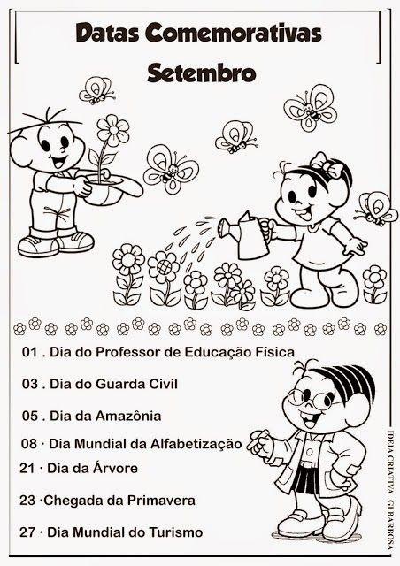Calendario Com Datas Comemorativas Janeiro A Dezembro Turma Da Monica Com Imagens Calendario De Datas Comemorativas