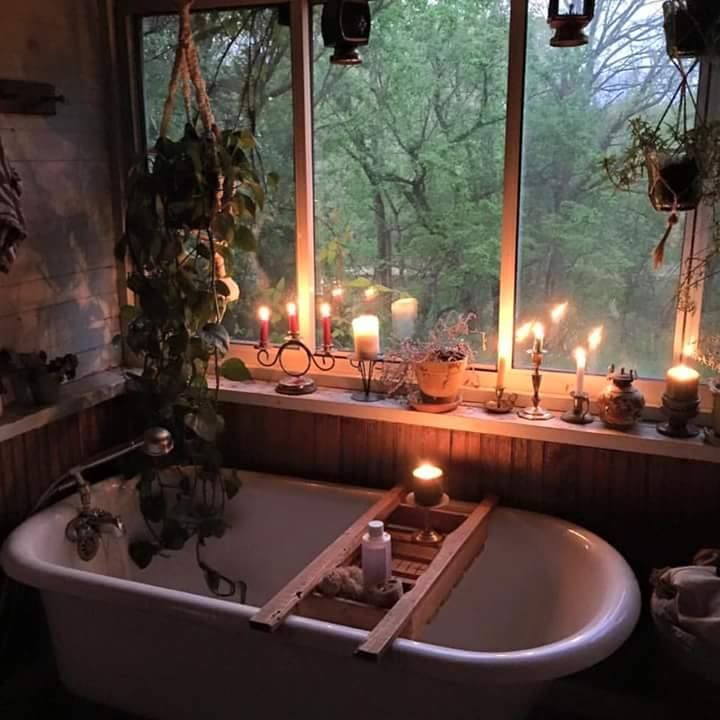 Nice warm, candle-lit baths are a great way to relax in the colder weather
